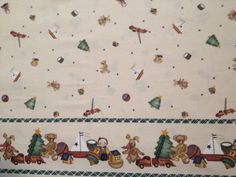 Christmas Toy Border Fabric  Past & Presents by KoopsKountryKalico, $7.99