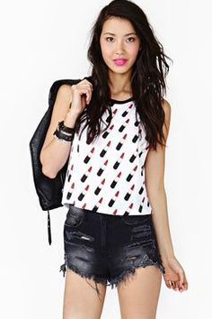 http://www.shopstyle.com: Lipstick Muscle Tee