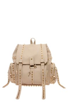 Louise Double Buckle Studded Rucksack