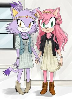 Friends ( Amy Rose And Blaze The Cat )
