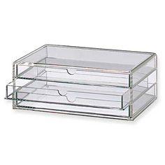 Acrylbox L mit 3 Schubladen