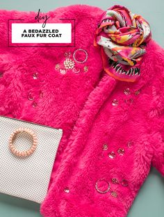 Bedazzled Faux Fur C