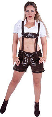 #Almwerk #Damen #Trachten #Lederhose #kurz #Modell #Heidi, #Größe #Damen:XS