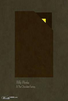Willy Wonka & the chocolate factory. Minimalist Movie Poster.