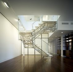 Genetic Stair - Caliper Studio, 2008 - Photo by Ty Cole #architecture #stair #design #stainless #steel #generative #design