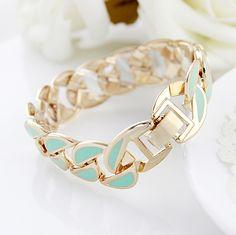 Elegant ENAMEL bracelet light green