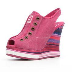 PS Luvme Wedge Fuchsia now featured on Fab.