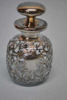 Gorham Siver Overlay Scent Bottle | eBay