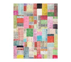Hand Knotted Turkish Oriental over-dyed patchwork Area Rug 8x10 Patch Modern #Turkish #Turkish