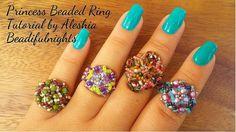 Princess Beaded Ring Tutorial