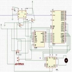 Circuit Daigram Of Interfacing ADC0808 with Serial port (RS232