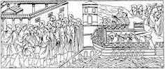 61 De triomfantelijke aankomst van de keizer en een plechtig offer.