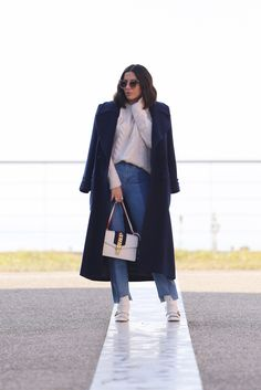 Navy Blue Coat Look