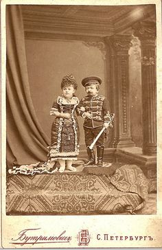 Peasant and his wife, who Grusha tries to leave Michael with. Russian Circus Tiny Couple