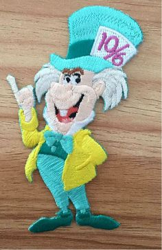 Mad Hatter - Alice In Wonderland - Disney - Embroidered Iron On Applique Patch B #Unbranded