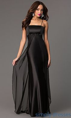 Floor Length Spaghetti Strap Dress by Milano at SimplyDresses.com