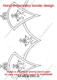 Indian Embroidery, Hand Embroidery, All Design, Book Design, Trace On, Pin Hole, Border Design, Paper Design, Paper Size