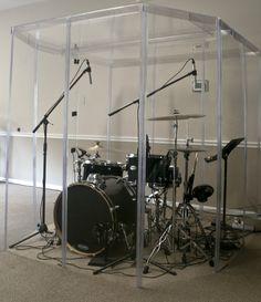 Drum Booth Sound Room , Drum Shields or Drum Shield