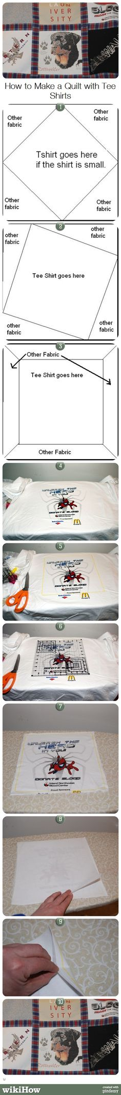 How to Make a Quilt from Tee Shirts