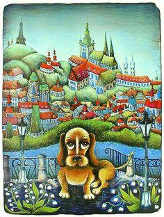 ZTRACENÝ PES V PRAZE - Dog lost in  Prague -by Emma Srncová- Czech