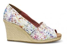 Splatter Women's Wedges | TOMS.com   cute.. but what size Tom lovers????