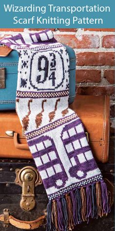 Harry Potter Knitting Patterns - In the Loop Knitting Tricot Harry Potter, Harry Potter Crochet, Harry Potter Scarf Pattern, Harry Potter Craft, Harry Potter Cross Stitch Pattern, Knitting Patterns Free, Knit Patterns, Stitch Patterns, Fair Isle Knitting