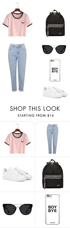 """""""Untitled #57"""" by bleona-ermonda on Polyvore featuring Topshop, adidas, NIKE and Quay"""