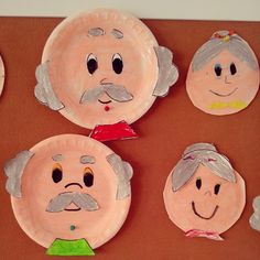 Kinderboekenweek 2016, opa en oma knutselen Grandparent's day craft idea for kids