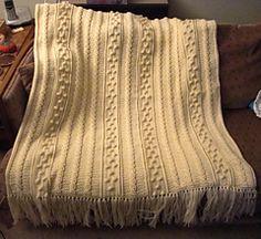 Crochet Aran Afghan - pattern by Marilyn Losee  free pattern