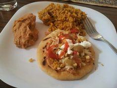 Pupusa. Salvadorian food. Super delish