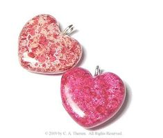 Memorial Bead Heart Charms Made From Fresh Or Dried Flowers, Sterling Silver. $19.99, via Etsy.