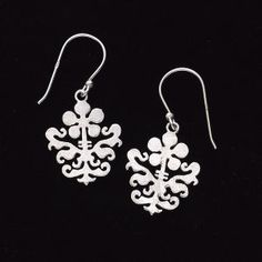 Silver Tapestry Earrings - New Age & Spiritual Gifts at Pyramid Collection