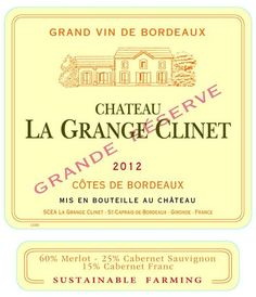 Tonight we're sipping this delicious Chateau La Grange Clinet Premieres Cotes de Bordeaux 2012! Get yours at Luneau USA Inc, d.b.a Nicolas Wines/Celebrity Imports or online here: http://enth.to/1BF0q0O