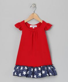 Take a look at this Red Isabel Dress - Infant, Toddler & Girls by Blueberry Twirl on #zulily today!