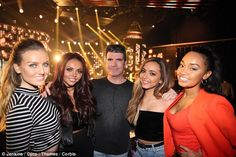 They're back! Little Mix turned up at the X Factor studios and caught up with their former judge Simon Cowell on Friday