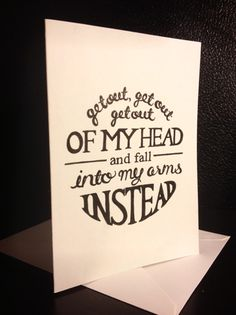 One Directions lyrics card
