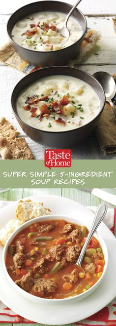 Super Simple 5-Ingredient Soup Recipes (from Taste of Home)