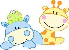 Dibujo de jirafas bebs  Imagui  tarjetas  Pinterest  Rock