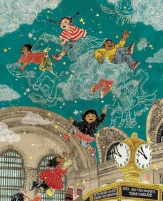 New York City transit poster in the theme of Grand Central Terminal. This poster was posted all around New York City subway and train statio...