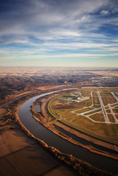 "earth-song: ""Ariel Photo Missouri River, Omaha Nebraska by ~Esoteric-Imagery "" Kansas City Missouri, Missouri River, Big Sky, Nebraska, Wyoming, Iowa, Life Is Good, Beautiful Places, Scenery"