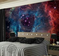 Quality Gorgeous Galaxy Wallpaper Nebula Photo wallpaper Custom Wall Murals Children Bedroom Shop Art Wedding Room decor Starry Night with free worldwide shipping on AliExpress Mobile 3d Wall Murals, Bedroom Murals, Bedroom Themes, Bedroom Decor, Bedroom Ideas, Wall Art, Galaxy Wallpaper, Photo Wallpaper, Wall Wallpaper