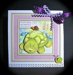 AT YOUR AGE YOU NEED TO SLOW DOWN 8x8 Mini Kit with Ages on Craftsuprint designed by Janet Briggs - made by Cynthia Massey
