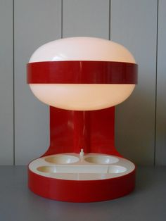 Awesome vintage KARTELL KD29 Desk Table Lamp. Designed by Joe Colombo. Contemporary Design Icon 60s 70s Retro Space Age Plastic Italy Panton