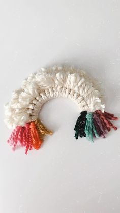 heythereheatherco on Instagram: Fluffy Rainbow Wreath 🌈🌈🌈 Piano Guys, St Patrick's Day Crafts, Wreath Tutorial, Simple Gifts, Over The Rainbow, Pom Poms, Tassels, Crochet Earrings, Fiber