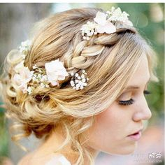 whatever you do, sticking flowers in a hairstyle will make it perfect. <3