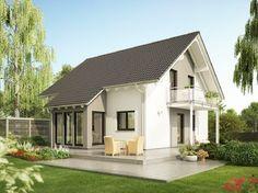Evolution 143 V4 - Bien Zenker - http://www.hausbaudirekt.de/haus/evolution-143-v4/ - Fertighaus als Einfamilienhaus Landhaus Modernes Haus Stadthaus mit Satteldach