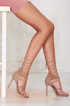 Nasty Gal Wrap Me Up Suede Heel - Shoes