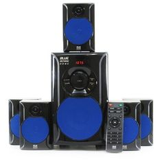 Supersonic 5.1 Channel DVD Home Theater System with USB Input & Karaoke Function | Overstock.com Shopping - The Best Deals on Home Theater Systems