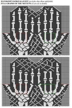Knitted Mittens Pattern, Lace Knitting Patterns, Knitting Charts, Knit Mittens, Knitting Socks, Tapestry Crochet, Knit Crochet, Crochet Wrist Warmers, Knit Art