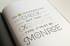 Monroe typeface - 3 fonts $89 ~ seriously, for obvious reasons, i need this!